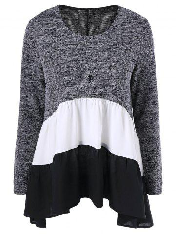Affordable Color Block Tiered T-Shirt