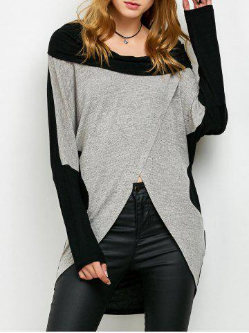 Chic Overlap Two Tone T-Shirt