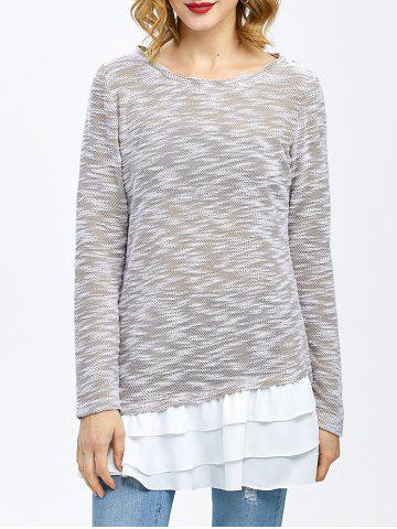 New Chiffon Trim Layered T-Shirt