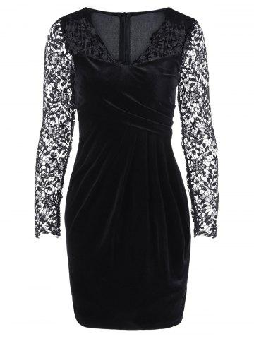 Latest Lace Trim Fitted Dress
