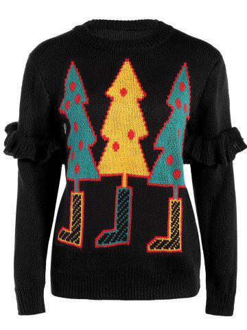 Buy Crew Collar Sweater With Christmas Tree Graphic