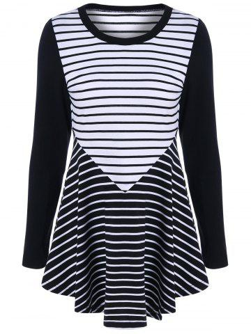 Online Elbow Patch Striped Tunic T-Shirt