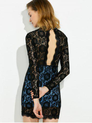 Outfits Backless Scalloped Lace Tunic Dress