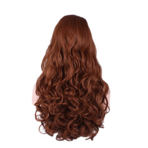 Store Long Wavy Cosplay Synthetic Wig - BROWN  Mobile