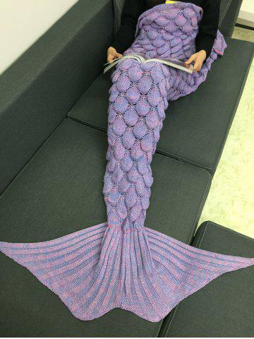 Shop Crochet Knitting Fish Scales Design Mermaid Tail Style Blanket