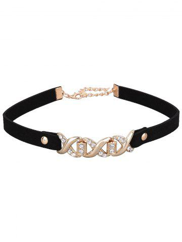 Discount Rhinestone Infinite PU Leather Velvet Choker