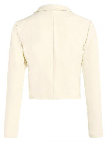 Affordable Open Front Shawl Collar Blazer - OFF-WHITE M Mobile