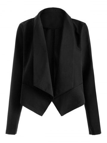 Outfit Open Front Shawl Collar Blazer BLACK XL
