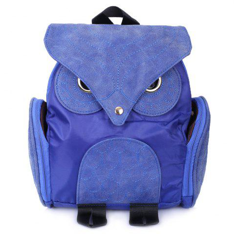 Stylish Owl Shape Solid Color Design Women Shoulder Satchel - Blue - 150*200cm