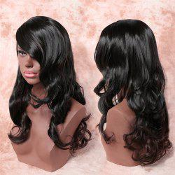 Charming Black Ombre Light Brown Long Synthetic Fluffy Wavy Capless Adiors Wig For Women