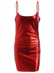 Spaghetti Strap Glitter Party Dress -