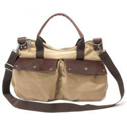 Zipper Canvas Messenger Bag