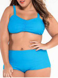 Bandeau High Waist Plus Size Bikini Set