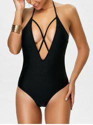 Backless Criss Cross Halter Bathing Suits
