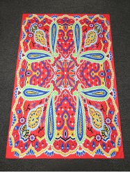 Dashiki Paisley Printed Long Rectangle Beach Throw - RED