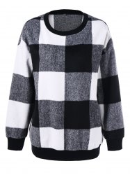 Plus Size Plaid Sweatshirt - CHECKED