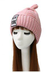 Newyork Label Thicken Crochet Knit Chunky Hat - PINK