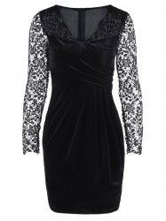 Lace Trim Fitted Dress -