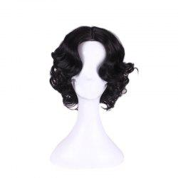 Short Centre Parting Wavy Snow White Cosplay Synthetic Wig
