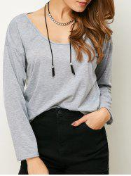 Scoop Neck Long Sleeve Tee