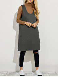 Sleeveless A Line Sweater Dress