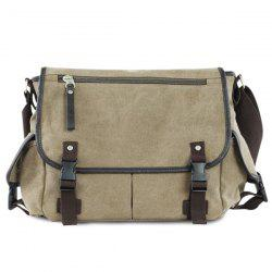 Buckle Strap Laptop Messenger Bag
