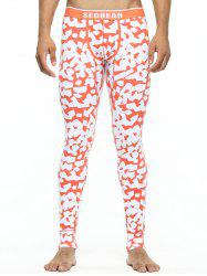 Scattered Printed U Pouch Long Johns
