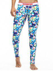 U Pouch Floral Long Johns