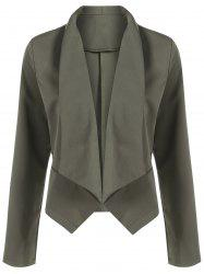 Open Front Shawl Collar Blazer