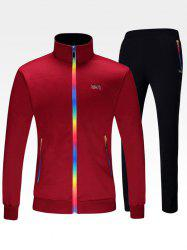 Zippered Jacket and Pants Tracksuit