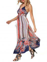 Tie Dye Painting Long Boho Slip Dress