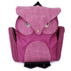 Stylish Owl Shape Solid Color Design Women Shoulder Satchel - ROSE