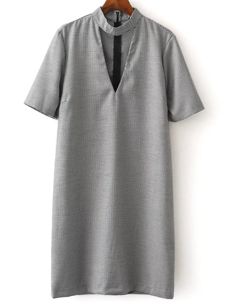 Best Checked Choker Casual Dress