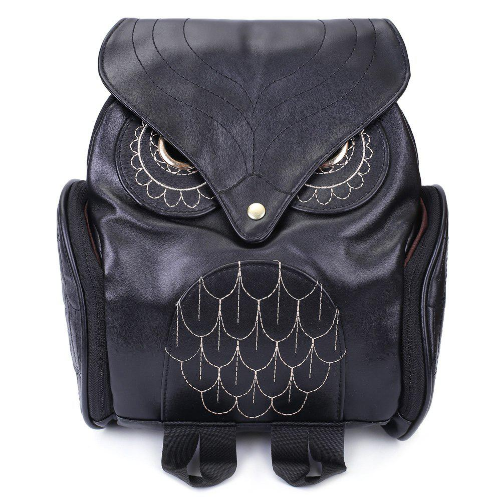 Outfits Preppy Owl Pattern and Stitching Design Women's Satchel