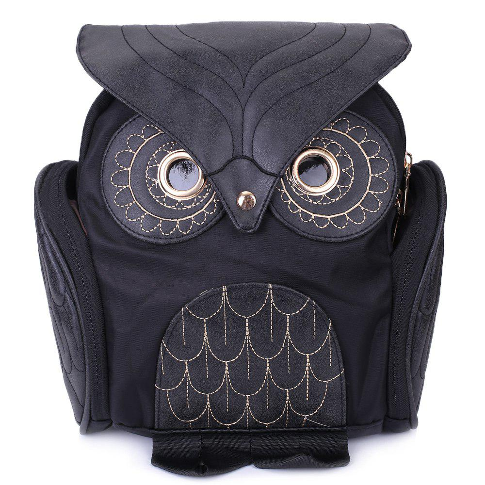 Fancy Stylish Owl Shape Solid Color Design Women Shoulder Satchel