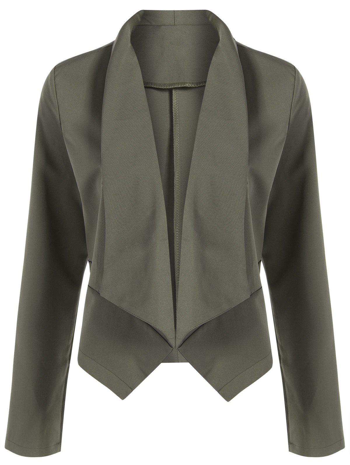 Chic Open Front Shawl Collar Blazer