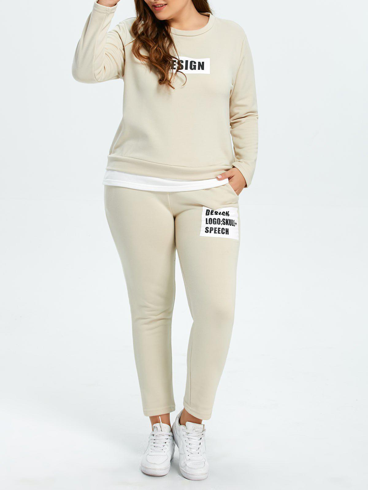 Discount Plus Size Pockets Design Funny Outfits