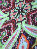 Dashiki Paisley Printed Long Rectangle Beach Throw - BLACK ONE SIZE