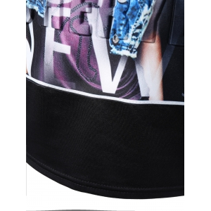 Mesh Back Graphic Tee -