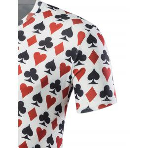 Poker Print Short Sleeve T-Shirt -