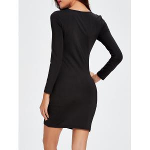 Cut Out Twist Bodycon Mini Club Dress -