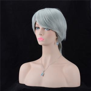 Long Oblique Bang Silky Straight Synthetic Wig -