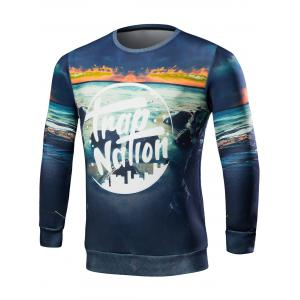 Scenery 3D Print Crew Neck Graphic Sweatshirts