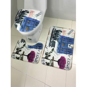Europe Style Bath and Toilet Mats Sets 3 Pieces