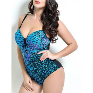Floral Bandeau One Piece Swimsuit with Underwire