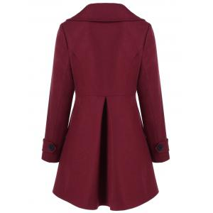 Wool Double Breasted Skirted Overcoat -