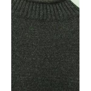 A Line Asymmetric Mock Neck Sweater - BLACKISH GREEN ONE SIZE