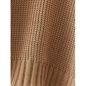 Drop Shoulder Textured Cut Out Sweater -