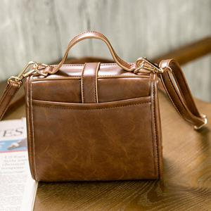 PU Leather Buckle Strap Crossbody Bag -