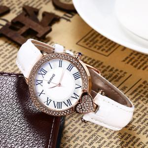 Roman Numerals Heart Rhinestone Watch -